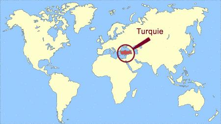 turquie carte du monde Turquie sur la carte du monde